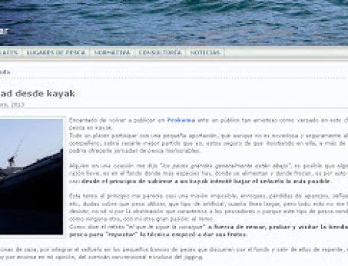 Curri de profunidad en Kayak. PESKAMA
