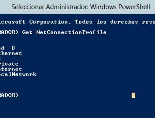 Cambiar Perfil de Red Pública a Privada Windows Server